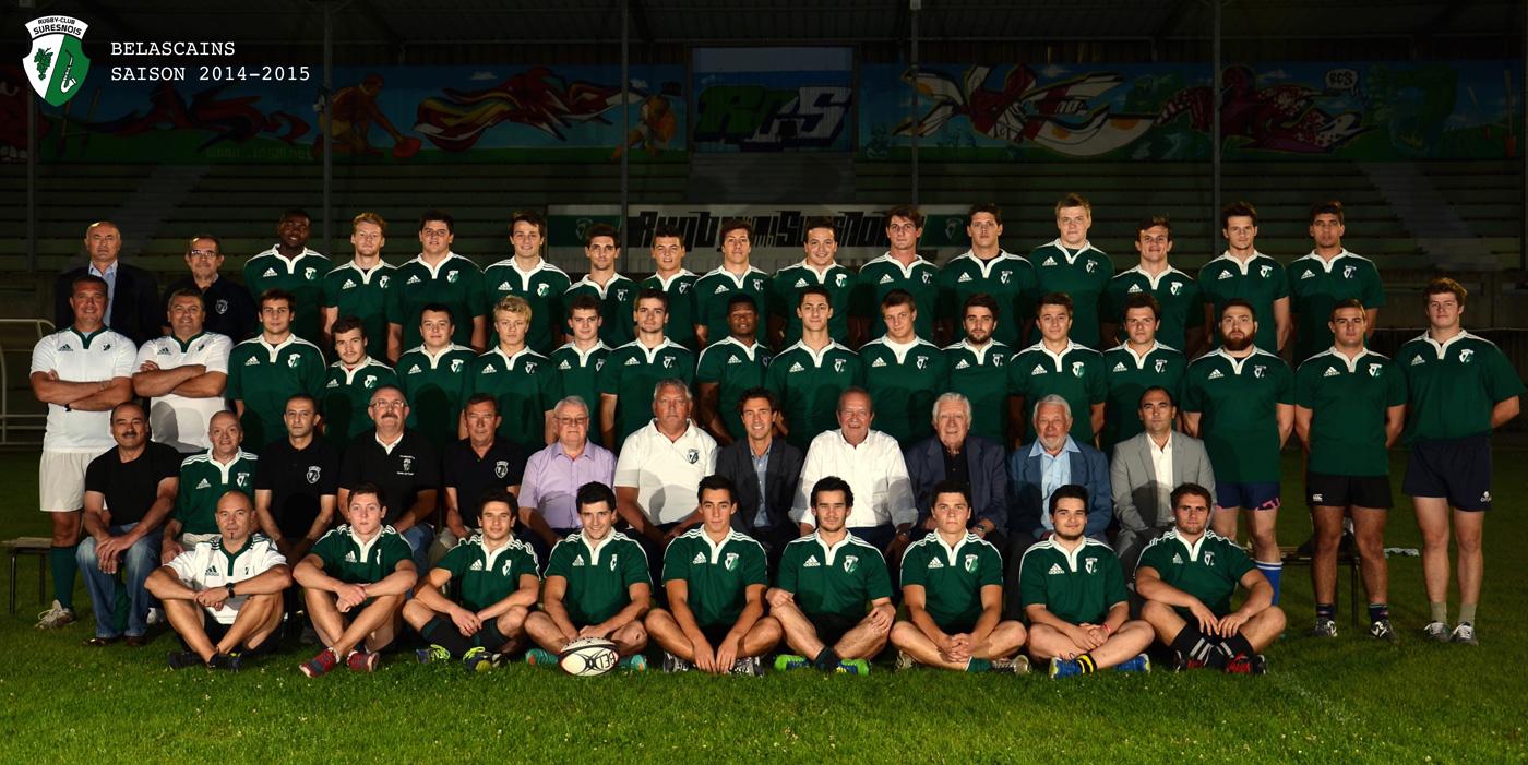 L'équipe du Rugby Club Suresnois catégorie Belascain