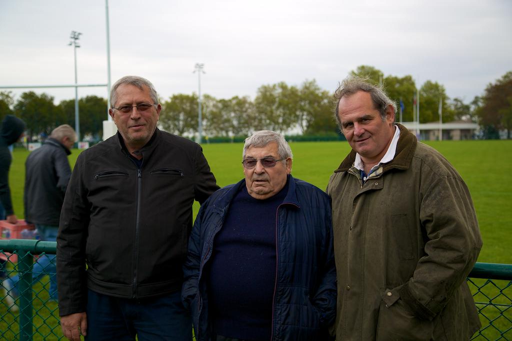 Club des partenaires: Claude Lavail, Président, entre Alain Cornouiller et Philippe Bessiere, vice-présidents