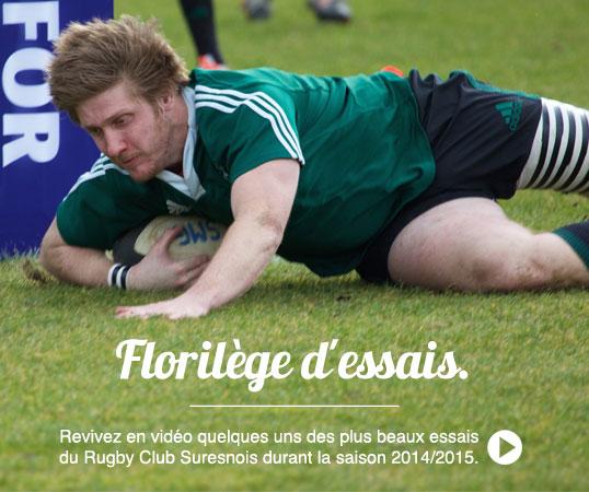 revivez en vidéo quelques uns des plus beaux essais du Rugby Club Suresnois durant la saison 2014/2015