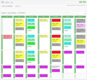 Nouveau système de calendriers