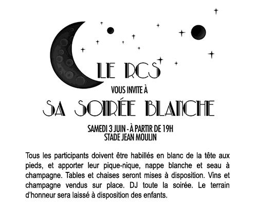 Soirée blanche du RC Suresnes - samedi 3 juin 2017 à 19h00 - Stade Jean Moulin