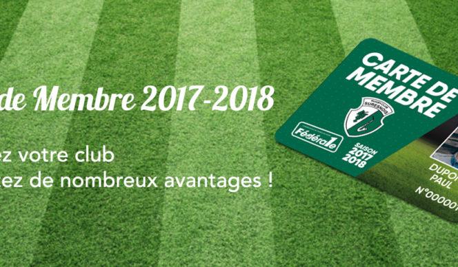 Carte de membre du RC Suresnes saison 2017-2018