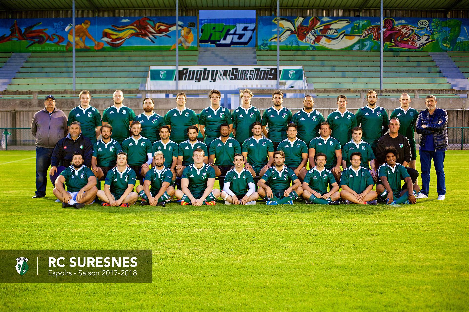 L'équipe Espoirs du RC Suresnes - saison 2017-2018