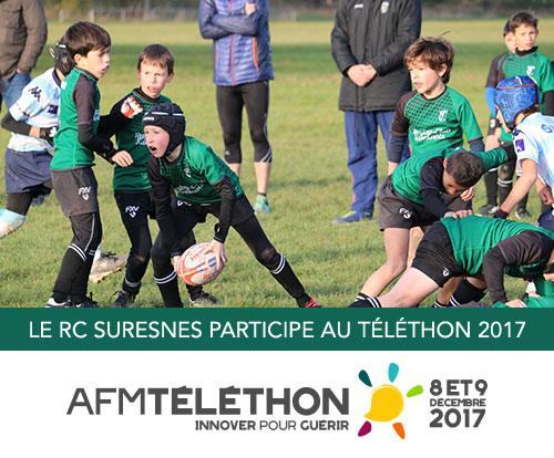 Le RC Suresnes participe au Téléthon 2017