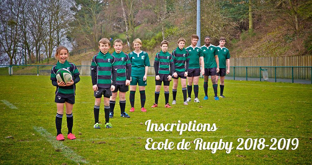 Inscriptions Ecole de Rugby 2018-2019