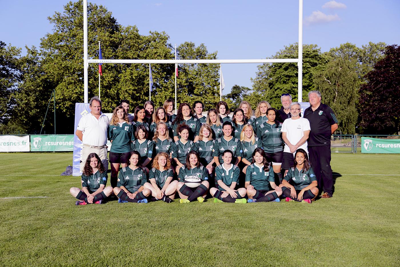 L'équipe Sénior Féminine du Rugby Club Suresnois