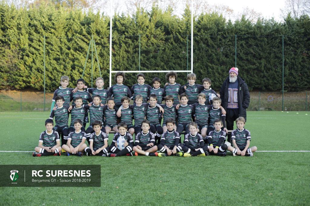 Groupe 1 - Benjamins (M12) du RC Suresnes – Saison 2018/2019