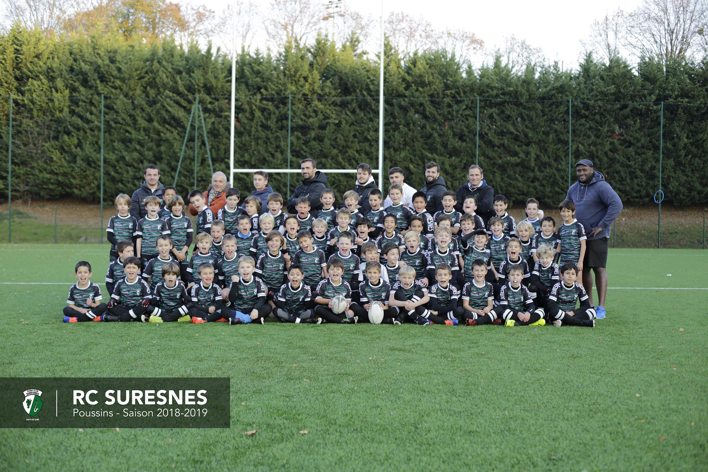 Catégorie Poussins (M10) du RC Suresnes - Saison 2018/2019