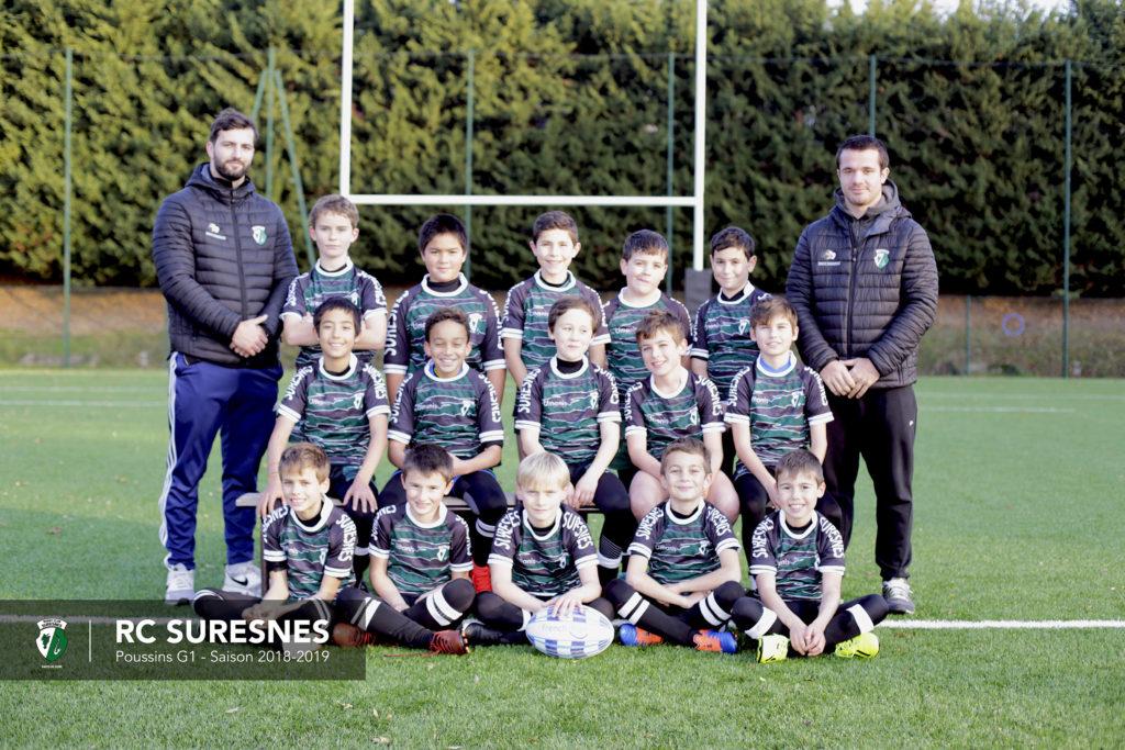 Groupe 1 Poussins (M10) du RC Suresnes - Saison 2018/2019