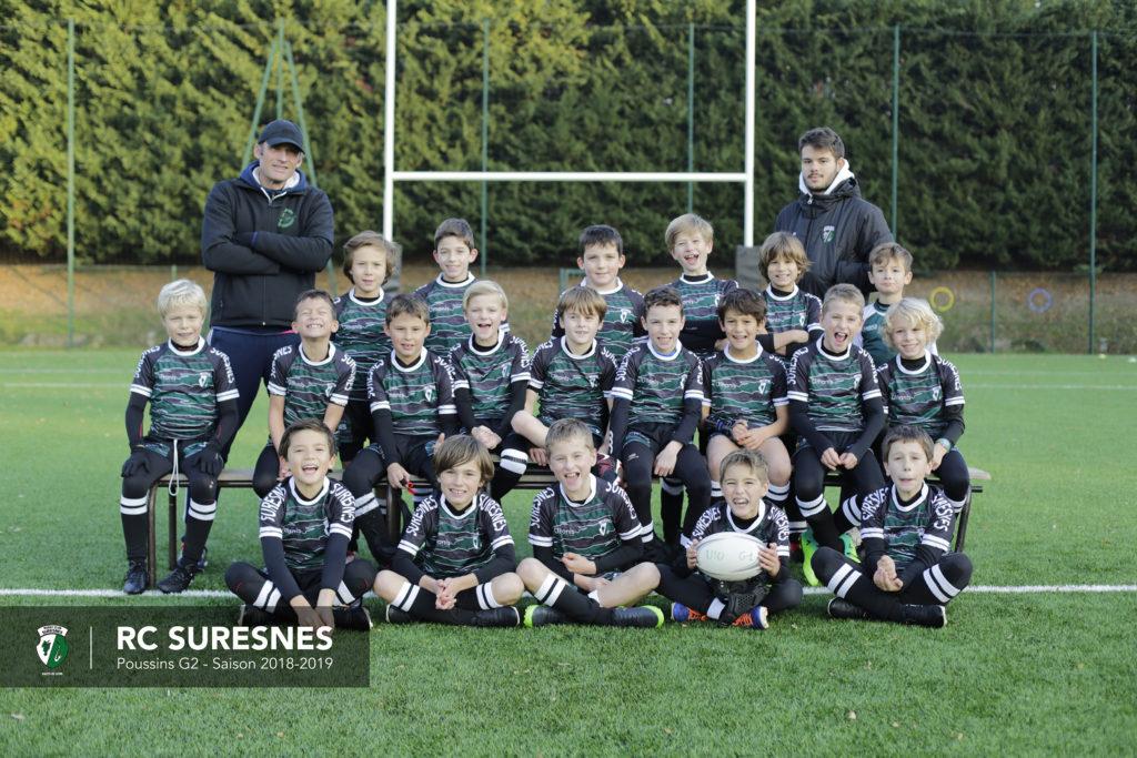 Groupe 2 - Poussins (M10) du RC Suresnes - Saison 2018/2019