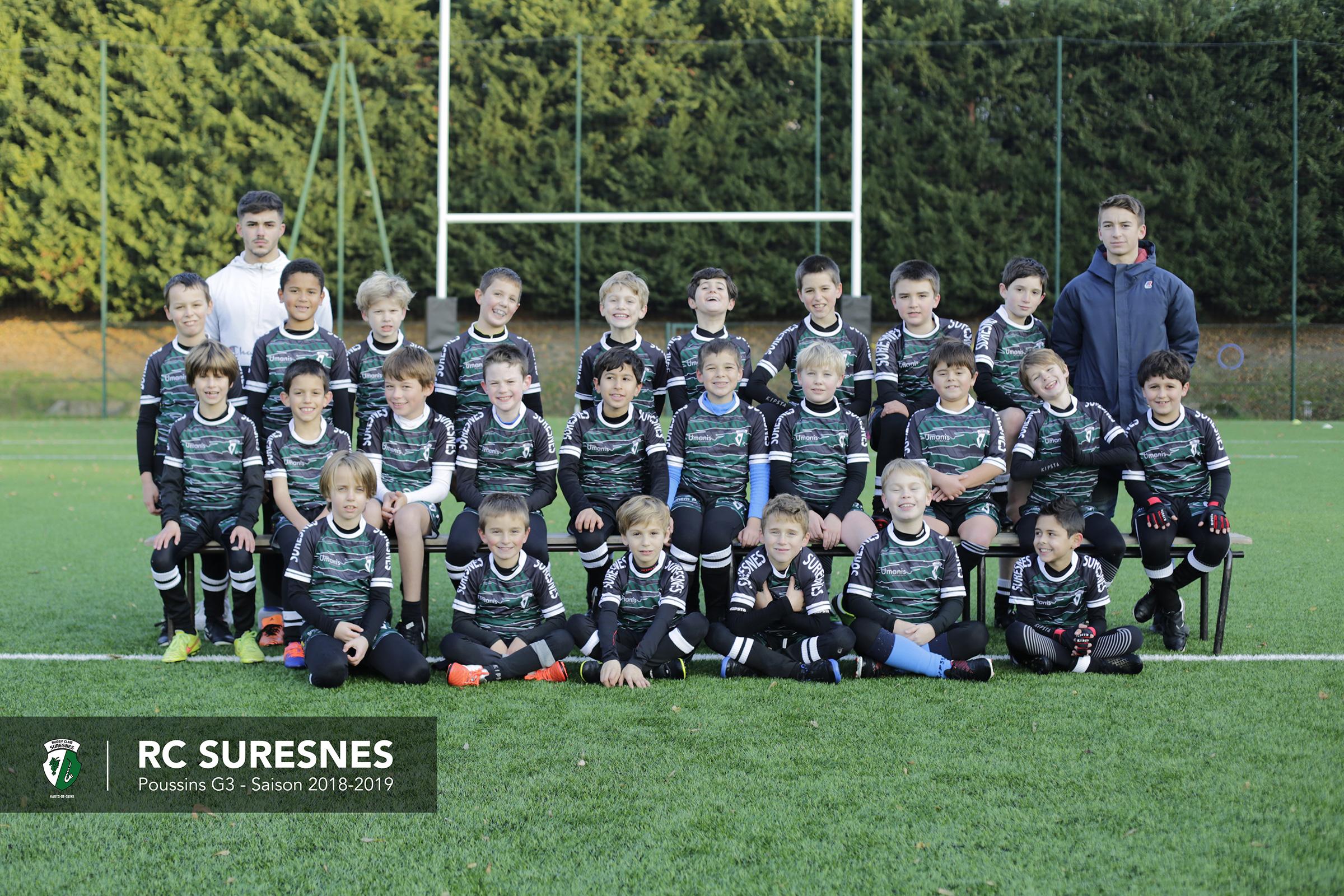Groupe 3 - Poussins (M10) du RC Suresnes - Saison 2018/2019