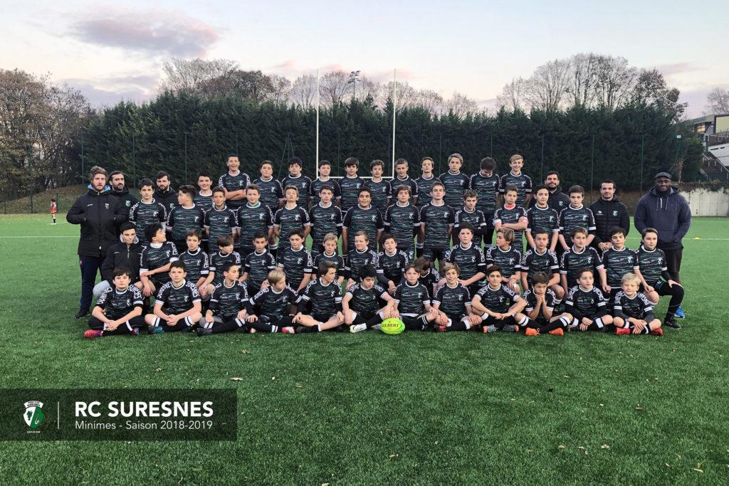 Minimes (M14) du RC Suresnes – Saison 2018/2019