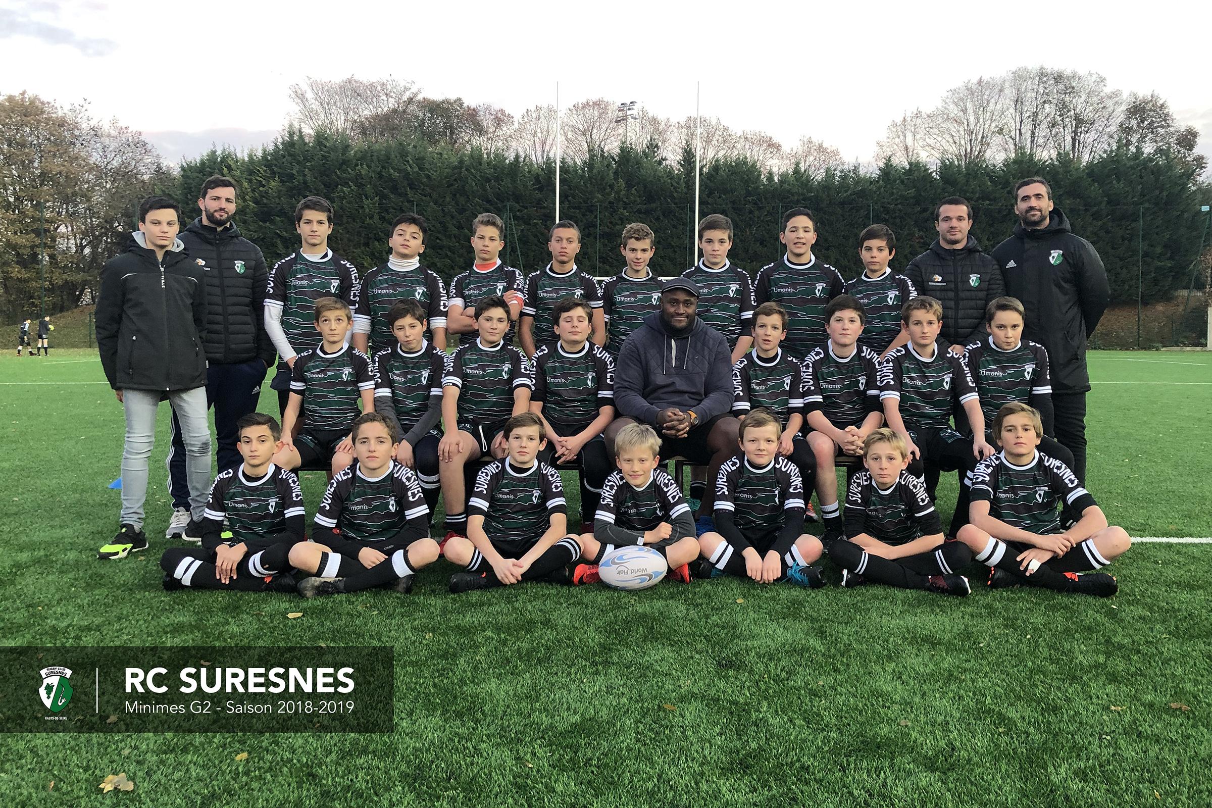 Groupe 2 - Minimes (M14) du RC Suresnes – Saison 2018/2019