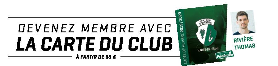 Devenir membre du RC Suresnes Hauts-de-Seine