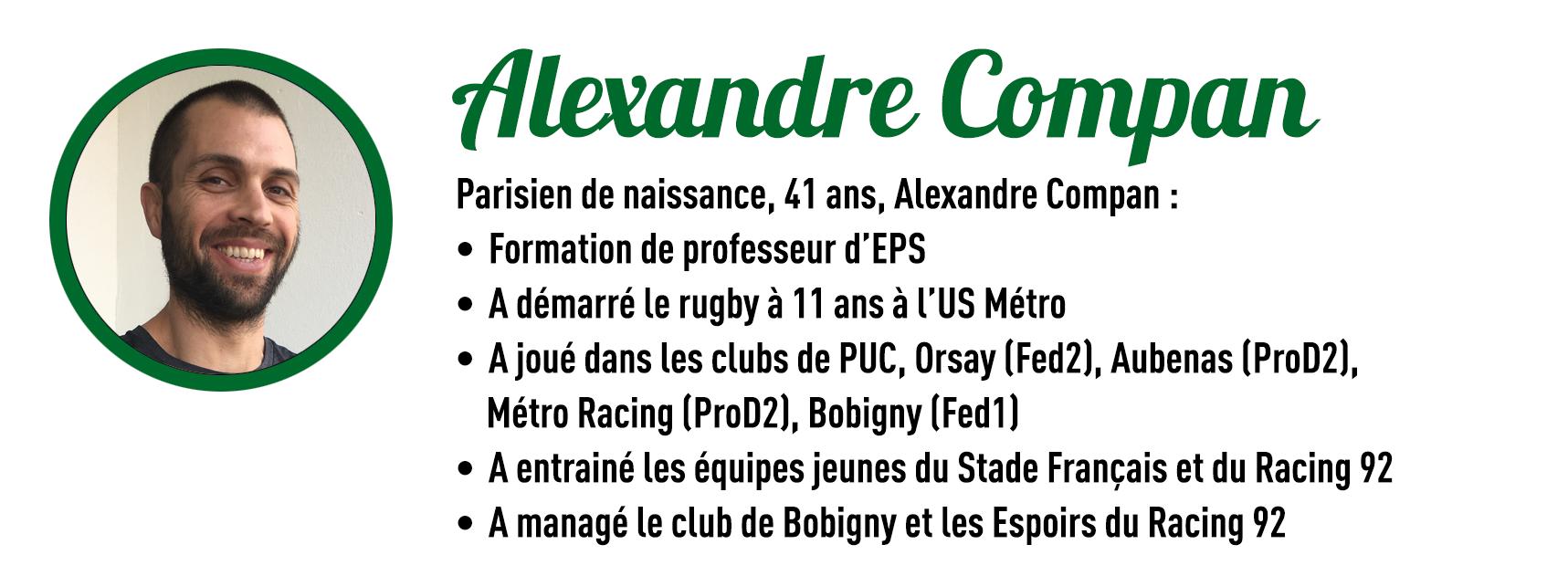 Nomination d'Alexandre Compan